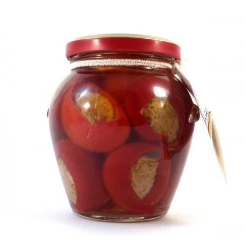 Peperoncini farciti in olio di oliva